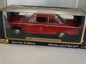 Maisto Special Edition 1962 Chevrolet Bel Air Re 1:18 Diecast As New Hardtop
