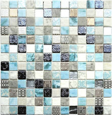 Glasmosaik 4mm GC Fashion Blue Hawaii Glas Mosaik Bad Sanitär Fliesen Renovieren