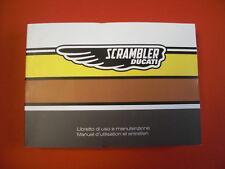 Ducati Fahrerhandbuch Scrambler Mach II Roland Sand italienisch / französisch
