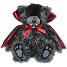"""Spiral Direct Ted The Impaler Dracula Vampire Teddy Gothic Stuffed Plush Toy 12"""""""