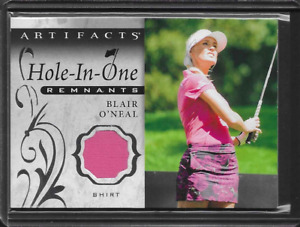 2021 UD Artifacts Blair O'Neal Hole In One Remnants Worn Shirt Relic Golf LPGA