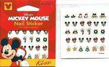 30 Mickey Minnie Mouse Christmas Nail Decals Stickers Licensed Disney Product