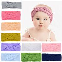 Newborn Toddler Kids Baby Girls Turban Elastic Headband Headwear Accessories Set