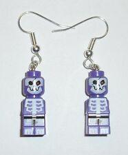 LEGO Purple Pirate Skeleton Microfig Earrings *DIY*Skull*