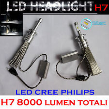 KIT LED Headlight H7 LED Cree Philips 6000K - 8000 lumen 12V Xenon Fari Auto
