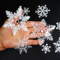 19pcs Reusable White Christmas Snowflake Window Sticker Self Clings XMAS Decor