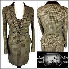 NEXT size 12 Tweed Dress Suit Bustle Riding Jacket 30s 40s Wool US8 Hacking