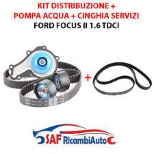 Kit Distribuzione Ford Focus 1.6 TDCI e cinghia servizi Pompa acqua