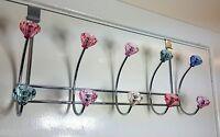 10 Hook Crystal Chrome Over Door Clothes Storage Hangers Rack Garment Holder