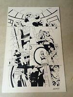 DOCTOR WHO #7 PG 21 original comic art, 2009, SIGNED, TARDIS, many CHARACTERS