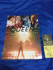 F/S Queen Japan tour 1979 tour book,ticket stub & flyer Frredie Mercury