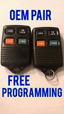 OEM PAIR OF 2 FORD LINCOLN MERCURY KEYLESS ENTRY REMOTE FOB TRANSMITTER GQ43VT4T