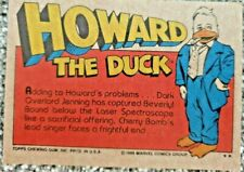 More details for vintage 1986 marvel howard the duck topps chewing gum x 12 cards lot