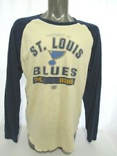 St Louis Blues Shirt Mens XL Long Sleeve Old Time Hockey 74 T.J. Oshie