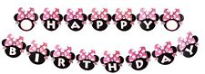♛ Shop8 : MINNIE MOUSE LETTER BANDERITAS BANNER Theme Party Decor Needs 3meter