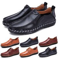 Men's Driving Casual Boat Shoes Leather Comfort Moccasin Slip On Loafers New