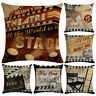 45x45cm Square Letter Pattern Cushion Cover Throw Pillow Case Home Sofa Decor