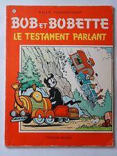 BOB ET BOBETTE n° 119  LE TESTAMENT PARLANT   ( EAUBO )  réédition