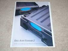 Krell Audio Standard 2 Amplifier Ad,1996,1 pg,Beautiful