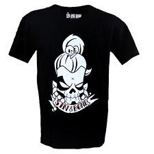 Calavera y desplazarse Tatuaje Para Hombre Xl Camiseta por el pecado & Bone