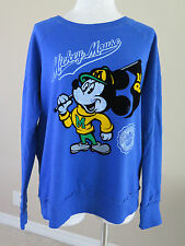 Disney Parks Mickey Mouse State University Vintage Look Sweatshirt Blue XL NWT