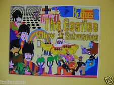 MATTED BEATLES YELLOW SUBMARINE CEL CELL ANIMATION ART