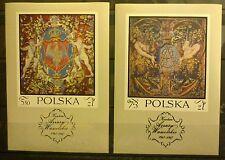 POLAND STAMPS MNH 1Fibl38+39 Sc1779+B121 Mi2048-49 blocks- Tapestries,1970,clean