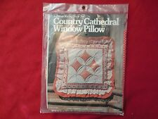 Vintage 1978 Yours Truly #1203 Country Cathedral Window Pillow Kit
