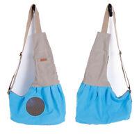 Sac Panier de Transport Cotton Tissu Simple Épaule pour Chien Chat / Bleu