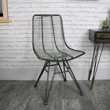 Sillas de comedor de metal para el hogar de color principal gris