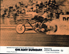 ON ANY SUNDAY ORIGINAL LOBBY CARD STEVE MCQUEEN MOTORCYCLE HARLEY DAVIDSON RACE