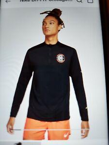 mens Nike Dri-FIT Chicago Marathon 2021 Element  1/2 zip dn6478 010 small