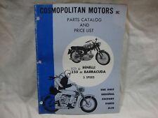 Vintage original Benelli Barracuda 5 speed 125 250 cc parts list manual catalog
