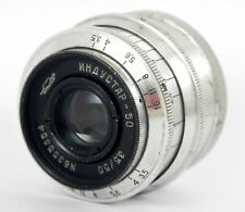 Soviet Lens INDUSTAR-50 3,5/50 M39 SLR USSR Silver USSR Good Condition