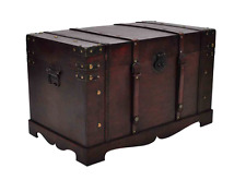 Vintage Large Storage Chest Wooden Ottoman Clothes Linen Storage Boxes Trunks