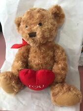 Teddy Bear with Red Heart & Bow Plush Stuffed Animal Ships N 24h
