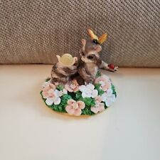 Charming Tails Surrounded By Friends Silvestri Raccoon Snail Butterfly Figurine