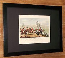Horse Hunting print - Henry Alken & T J Rawlins -12''x16'' frame, alken print