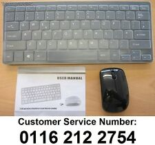 Black Wireless Keyboard & Mouse Set for LG 43UF680V Smart TV