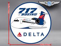 DELTA AIR LINES ROUND PUDGY BOEING B717 B 717 DECAL / STICKER