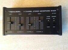 New listing Vintage Realisic 4 Channel Stereo Microphone Mixer
