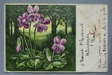 R&L Postcard: Beautiful 1903 Embossed Flower Natural History Design