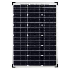 Pannello Solare Fotovoltaico Monocristallino Da 50W 21V Con Pinze A Morsa