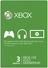 Xbox One/360 Live - 3 Month Gold Membership Subscription -