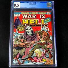 War is Hell #9 (Marvel 1974) 💥 CGC 8.5 WHITE PGs 💥 1st App Death! Horror Comic