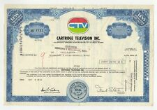 Cartridge Television Inc. Stock Certificate