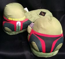 NWT Young Men's Star Wars Slippers SM 6/7 BUBBA FETT Disney Bed Shoes NEW $40