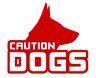 3 x BESPOKE CAUTION DOGS VEHICLE STICKER DECALS       [variations]    (k98)