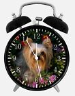 """Yorkie Alarm Desk Clock 3.75"""" Home or Office Decor W123 Nice For Gift"""
