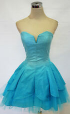 NWT MASQUERADE Turquoise Dance Prom Party Dress 1